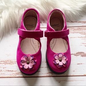 Pediped Flex Hillary Suede Mary Jane Flat Shoes